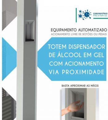 Totem Álcool em Gel Automatizado